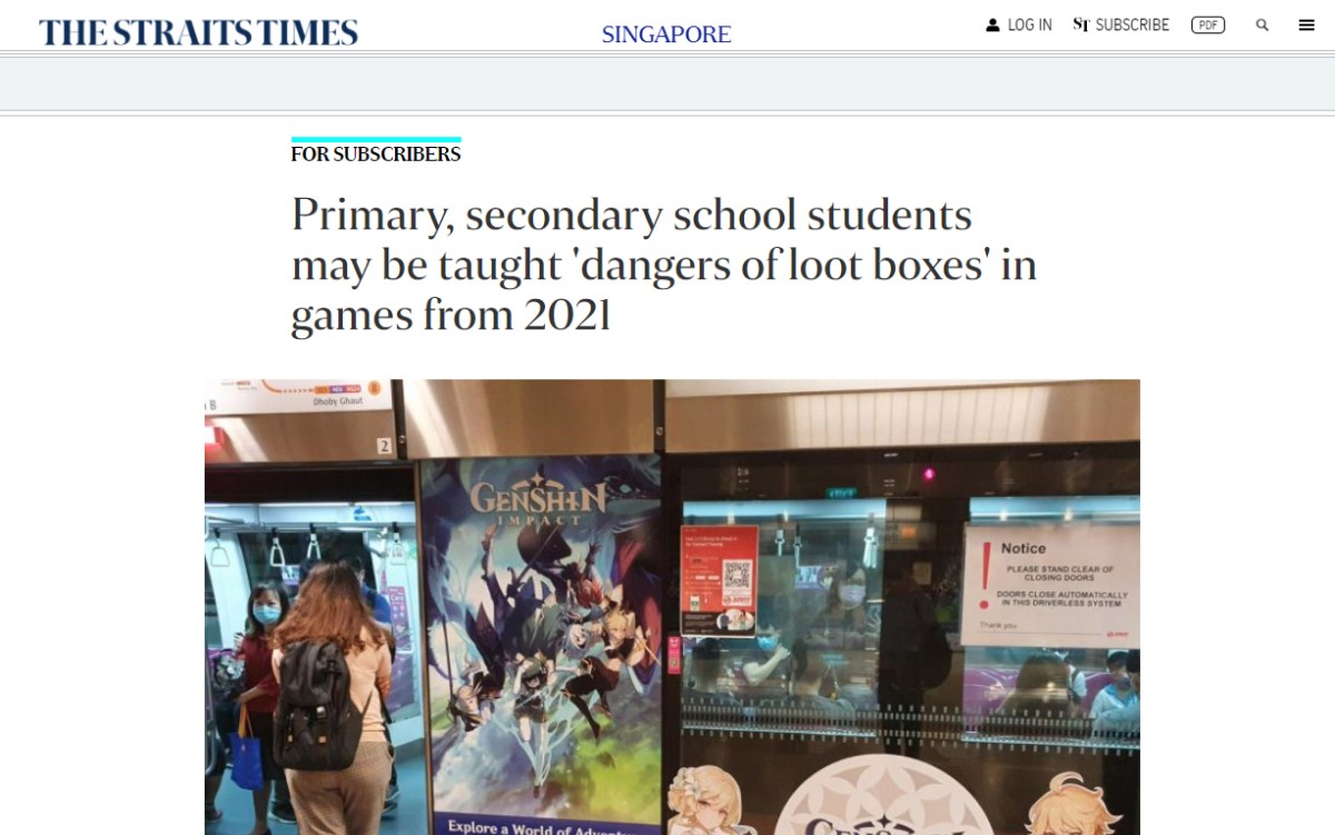 Primary, Secondary School Students May Be Taught 'Dangers of Loot Boxes' in Games from 2021